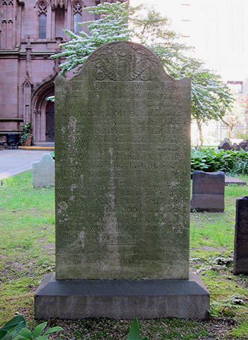 Bradford's grave, click for larger image